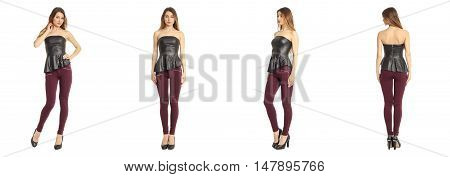 Images Of An Amazing Woman In Leather Corset