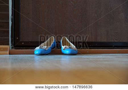 Turquoise women's shoes -