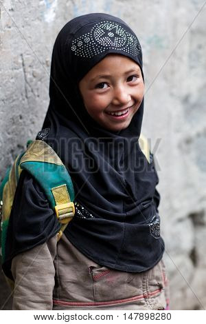 Girl From Baltistan, India