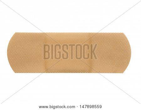 single adhesive plaster isolated on white background