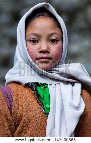 Balti Children In Ladakh, India