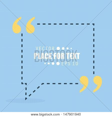 Abstract concept vector empty speech square quote text bubble.