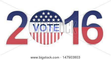Election 2016 USA concept 3D rendering isolated on white background