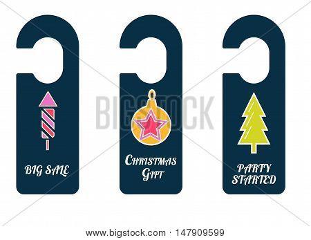 Christmas Symbols In Door Tags.