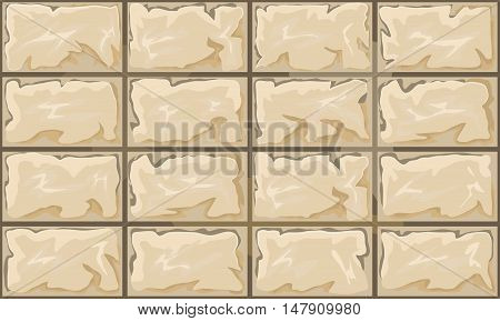 simple brown stone seamless pattern. Vector illustration