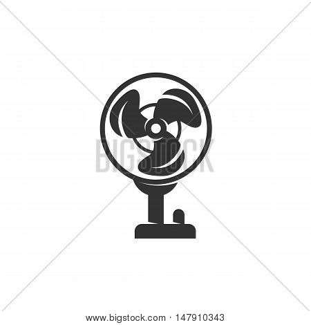 Fan Icon isolated on a white background.