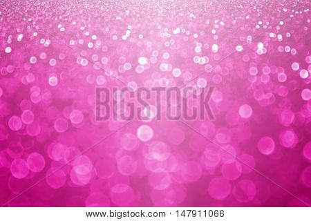 Fuchsia magenta and hot pink glitter sparkle background or confetti party invitation