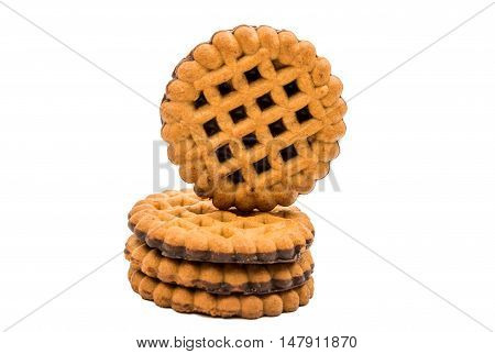 cookies dinner, biscuit on a white background