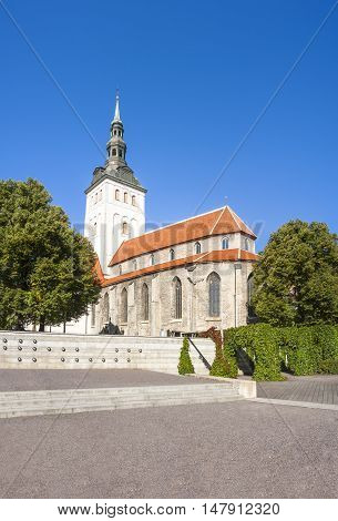 St. Nicholas church in the old town of Tallinn Estonia
