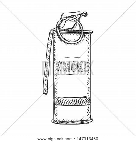 Vector Sketch Smoke Grenade