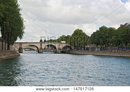 Pont Marie over the its river in the center of Paris