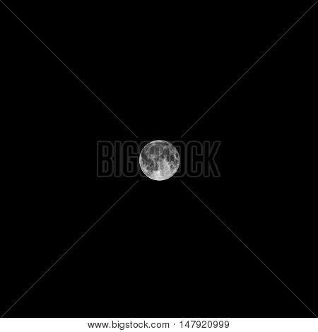 Harvest moon as seen from Tulcea, Romania