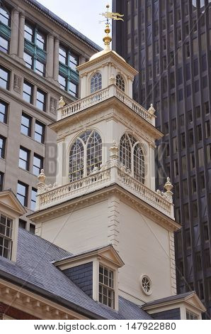 Old State House in downtown Boston, Massachusetts, USA