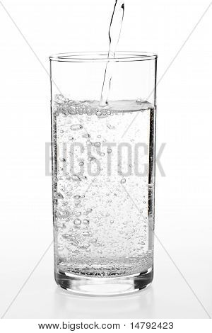 Pouring Water To A Glass