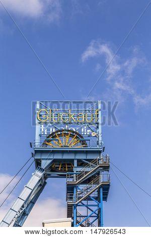 View To Shaft Of Mining Plant Sondershausen