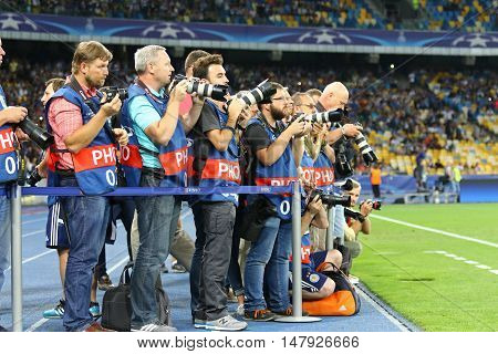 Football Photographers At Work