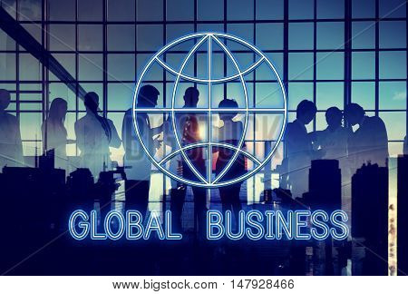 Global World Business Marketing Graphic Icon Concept