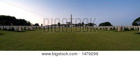 Panoramic View Of A War Memorial
