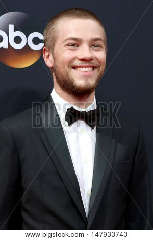 LOS ANGELES - SEP 18:  Connor Jessup at the 2016 Primetime Emmy Awards - Arrivals at the Microsoft Theater on September 18, 2016 in Los Angeles, CA