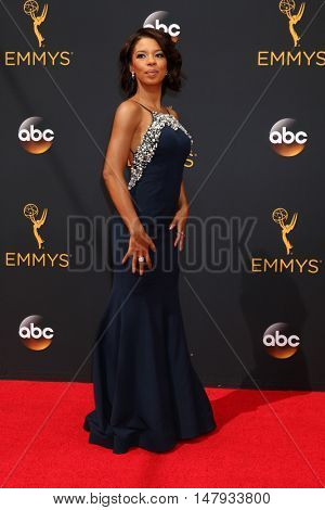 LOS ANGELES - SEP 18:  Angel Parker at the 2016 Primetime Emmy Awards - Arrivals at the Microsoft Theater on September 18, 2016 in Los Angeles, CA