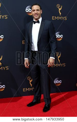 LOS ANGELES - SEP 18:  Daniel Sunjata at the 2016 Primetime Emmy Awards - Arrivals at the Microsoft Theater on September 18, 2016 in Los Angeles, CA