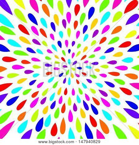 Abstract pattern. Firework spot background. Abstract drop pattern. Seamless rainbow blot pattern