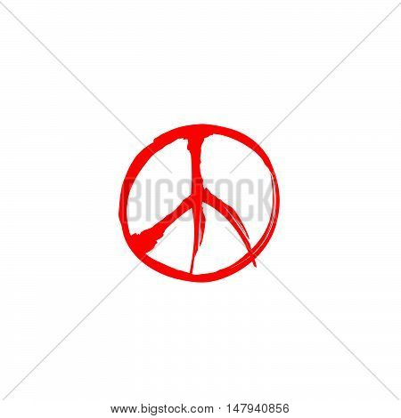Peace sign. Peace icon. Love & peace label.