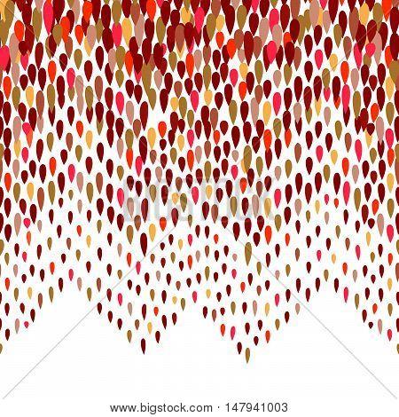 Abstract water drop pattern. Zig-zag spot background. Abstract drop pattern. Seamless rainbow blot pattern