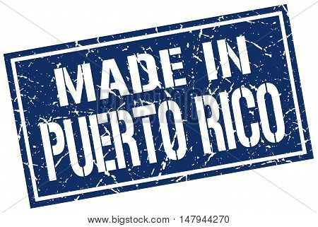 made in Puerto Rico. Stamp. Square grunge sign