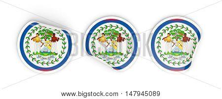 Flag Of Belize, Round Labels