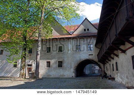 Famous Red Monastery called Cerveny Klastor in Slovakia, near Pieniny mountains.