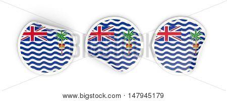 Flag Of British Indian Ocean Territory, Round Labels