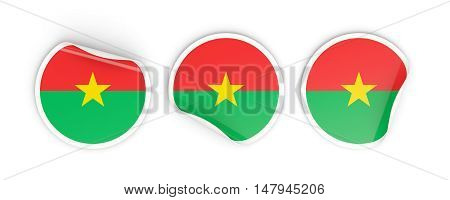 Flag Of Burkina Faso, Round Labels