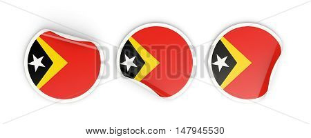 Flag Of East Timor, Round Labels