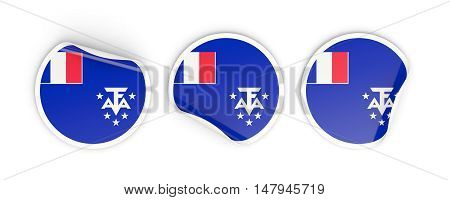 Flag Of French Southern Territories, Round Labels