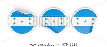 Flag Of Honduras, Round Labels
