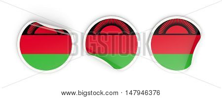 Flag Of Malawi, Round Labels