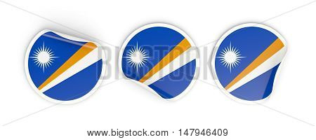 Flag Of Marshall Islands, Round Labels