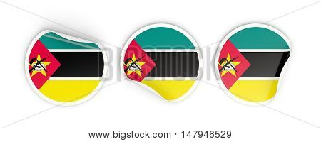 Flag Of Mozambique, Round Labels