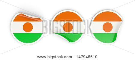 Flag Of Niger, Round Labels
