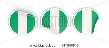 Flag Of Nigeria, Round Labels