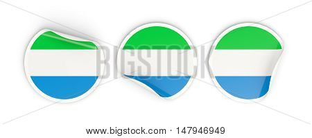 Flag Of Sierra Leone, Round Labels