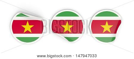 Flag Of Suriname, Round Labels