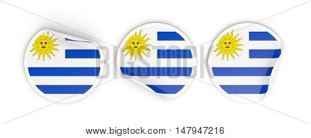 Flag Of Uruguay, Round Labels