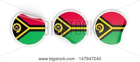 Flag Of Vanuatu, Round Labels