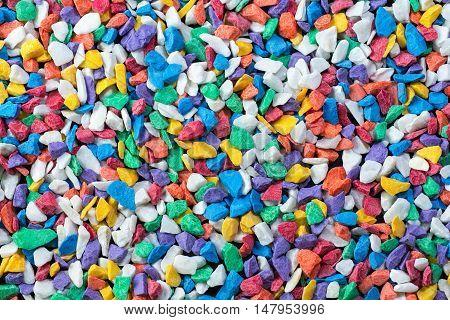 color aquarium rock for texture and background