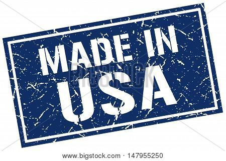 made in usa. Stamp. Square grunge sign