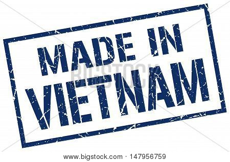 made in Vietnam. Stamp. Square grunge sign
