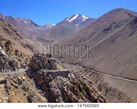 Khardungla Pass. The highest road in the World. Leh Ladakh India
