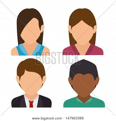 group person social media isolated icon design, vector illustration graphic